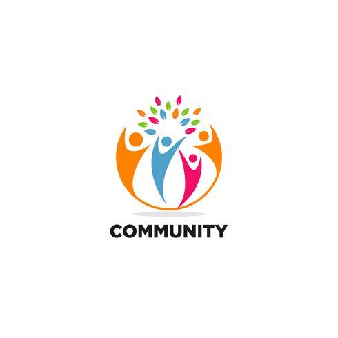 Logo de la communauté vecteur
