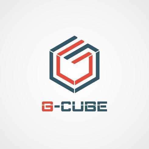 G Cube-logotyp vektor