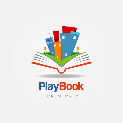 Logotipo de Educación del Libro vector