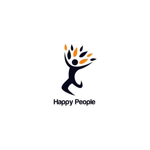 Gelukkige mensen logo