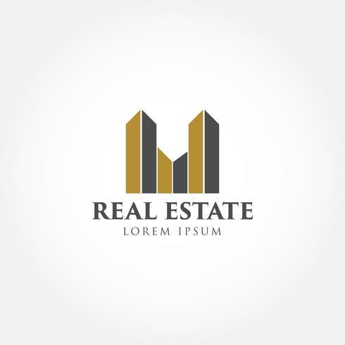 Logotipo da empresa de construção vetor