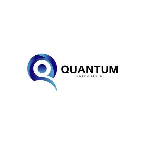 Blue Letter Q Logo