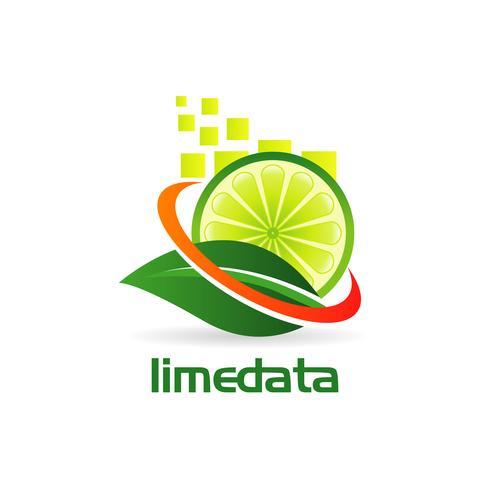 logo design lime vettore