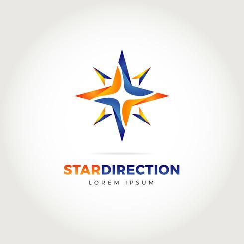 Stern-Richtungs-Logo