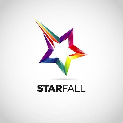 Kleurrijk Star Fall-logo