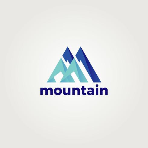Resumen letra M montaña logotipo vector