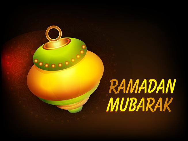Lampe brillante pour Ramadan Mubarak.