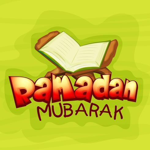Heilige Koran Shareef met tekst voor Ramadan.