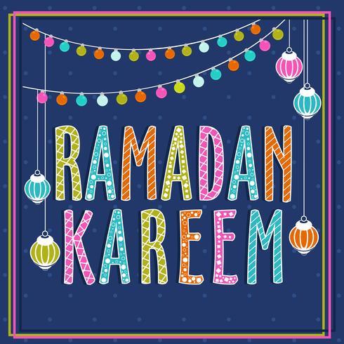 Image colorée de Ramadan Kareem