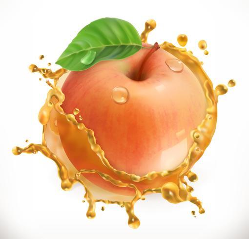 Apfel mit Saftspritzen