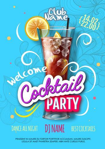Cartaz de festa cocktail realista