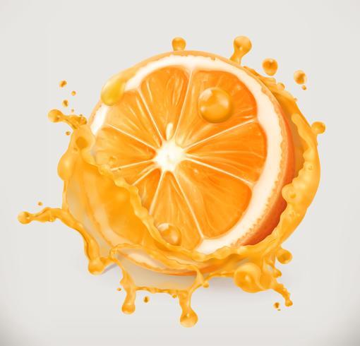 Orange juice. Fresh fruit