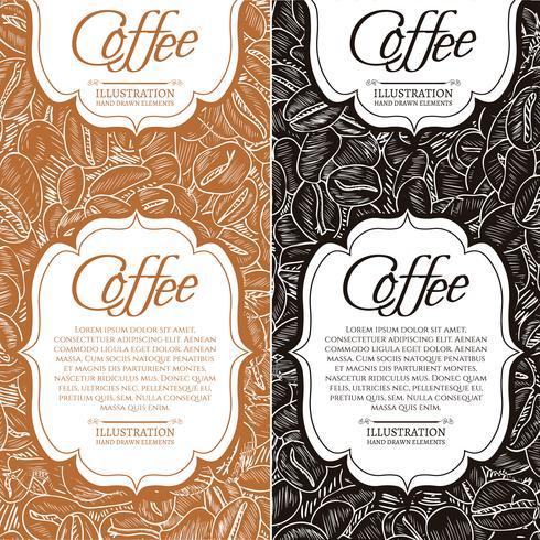 Zwart koffie en cappuccino concept
