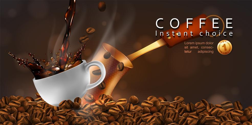 Conception publicitaire de café.