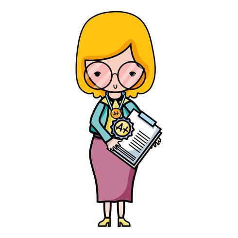 Lehrer mit Brille und Testbericht