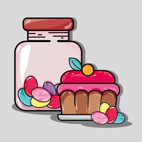 dulces dulces y cupcake