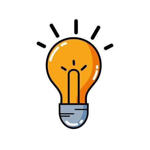 gloeilamp idee om intelligent en creatief