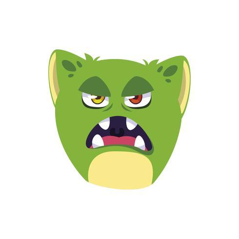 grappige monster komische karakter avatar