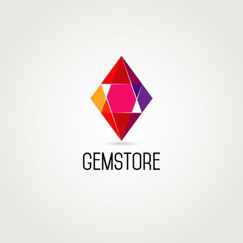 Geometrie edelsteen logo