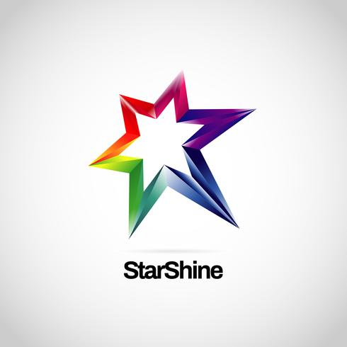 Logo a stella arcobaleno vibrante