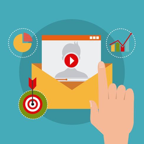 Marketing digital y social. vector