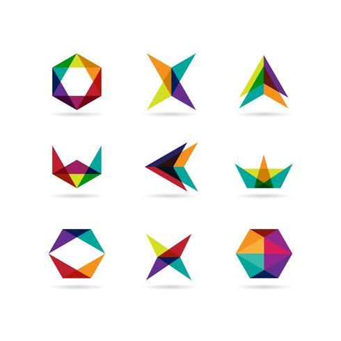 Geometrie vorm Logo Set