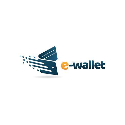 Logotipo rápido de la cartera vector