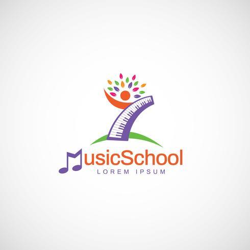 Logotipo de la escuela de música colorida