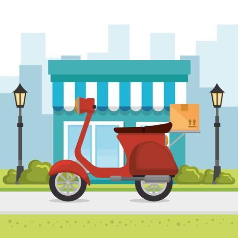 ícone de serviço de entrega de motocicleta vetor