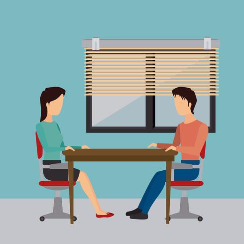 Affärskontor och mänsklig