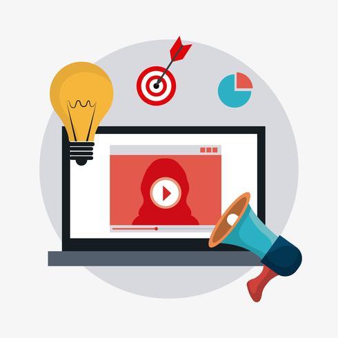 Publicidad digital vector