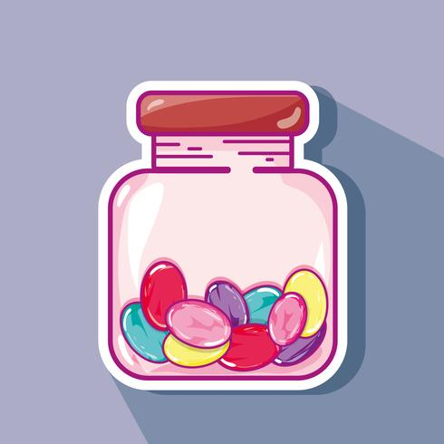 caramelo dulce en tarro