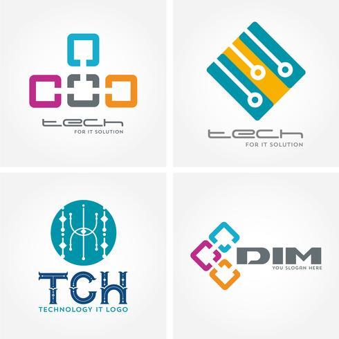 Logos d'entreprise liés à la technologie, à l'informatique et aux données