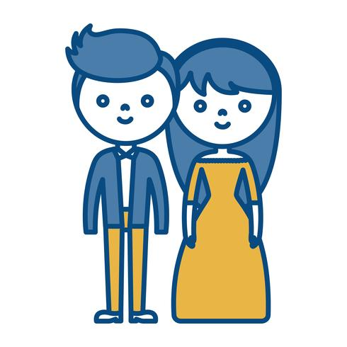 paar man en vrouw pictogram