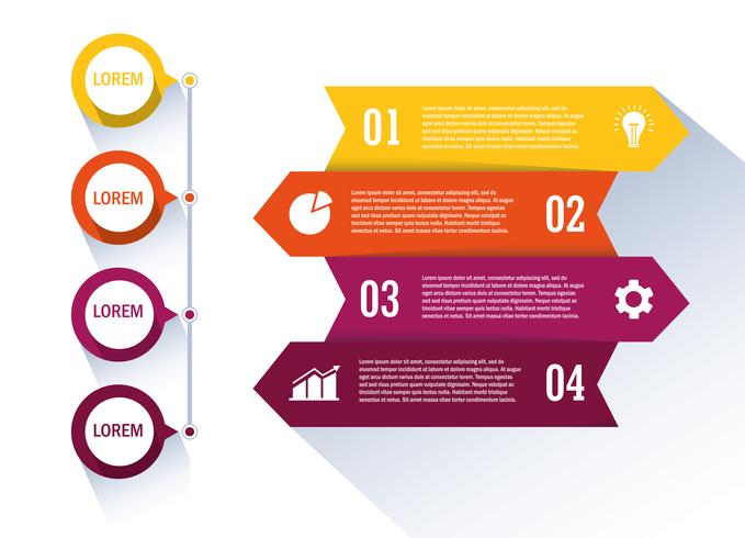 Flujo de trabajo aislado y diseño infográfico.
