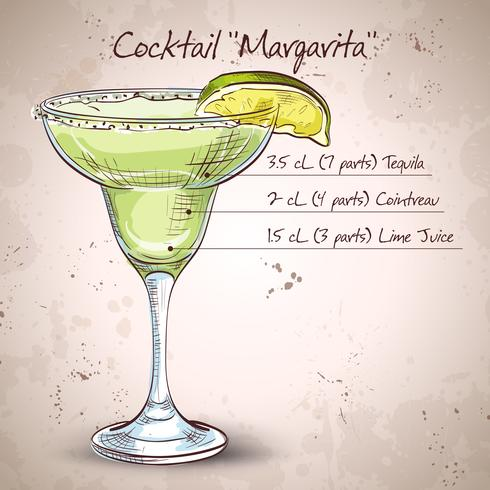Cóctel alcohol margarita