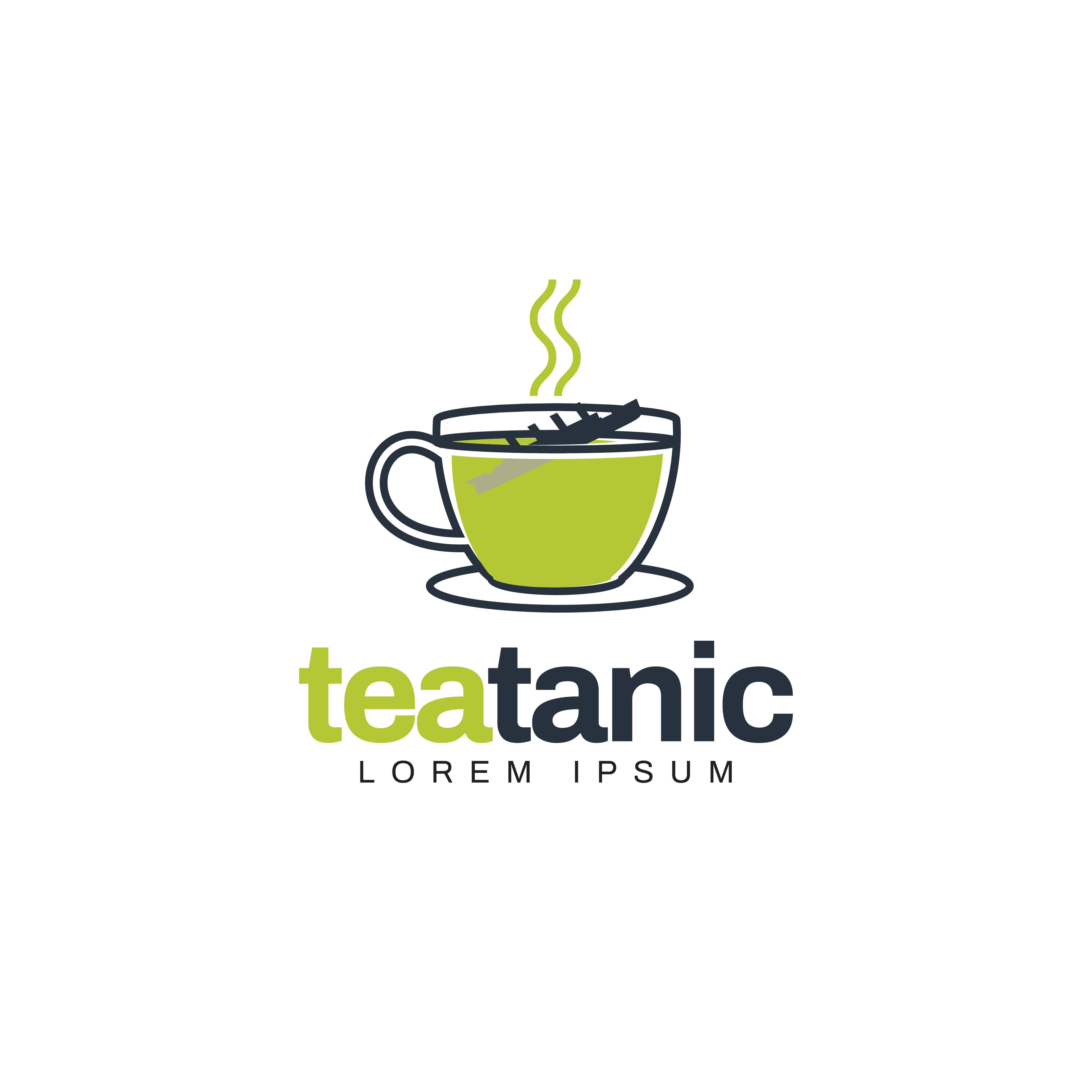 Unique Creative Green Tea Logo Symbol