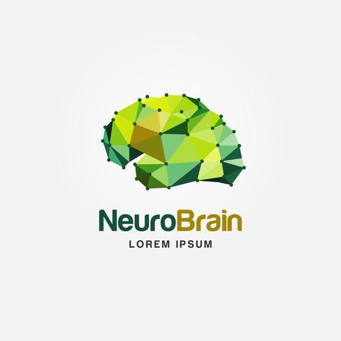 Logo colorido del cerebro vector