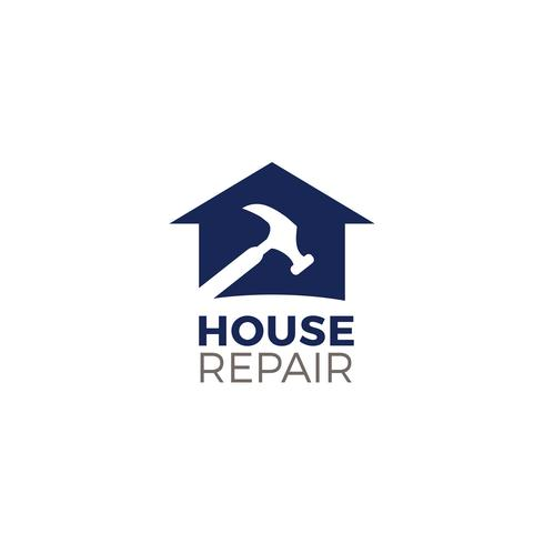 Huis reparatie logo
