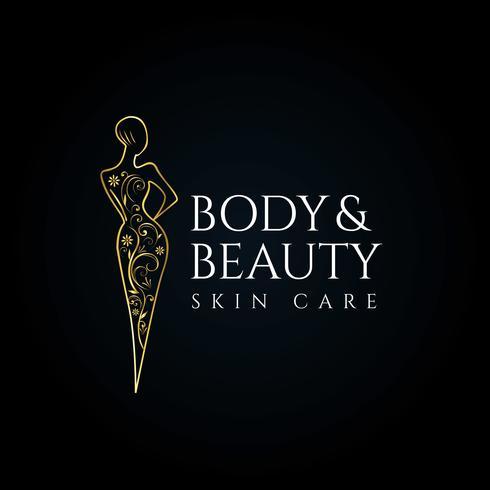 Logotipo del cuidado de la piel del salón de belleza