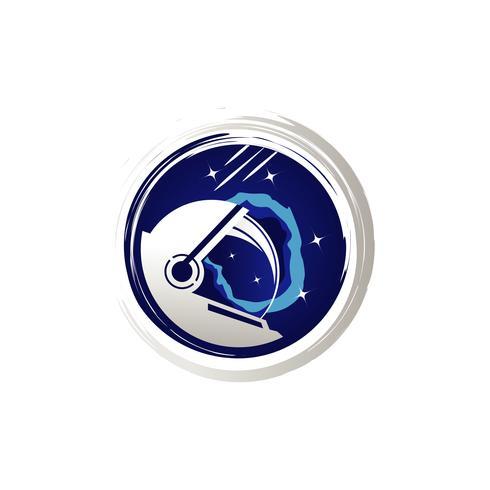 Astronaut ruimte illustratie logo symbool
