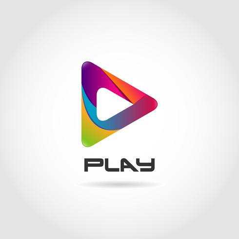 Colorful Play Symbol