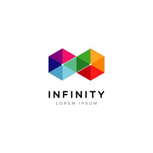 Ícone de símbolo de logotipo infinito geométrico vetor