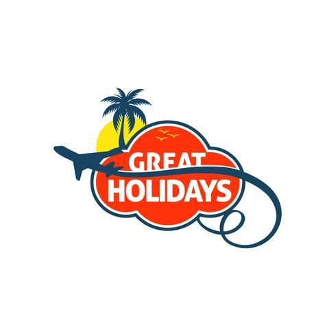 Logotipo de viagem de férias