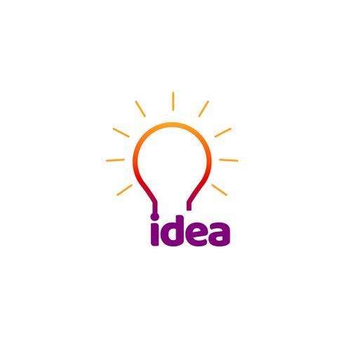 Färgglada idé lampa logotyp symbol