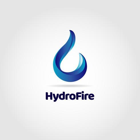 Logotipo de gota de agua azul
