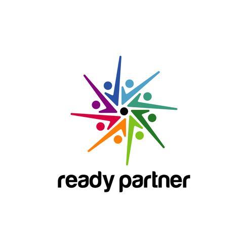 Kleurrijk communautair logo symbool