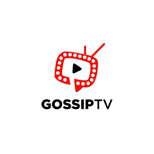 Skvaller TV-logotyp vektor