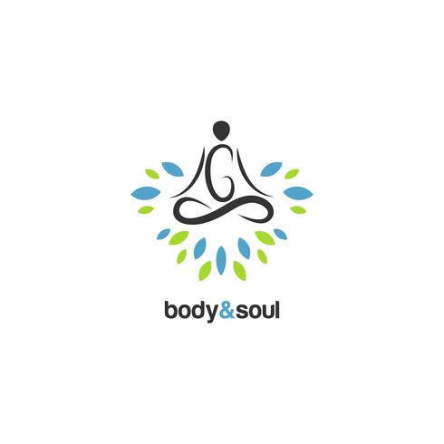 Logo de méditation vecteur