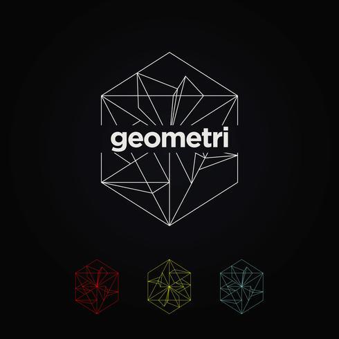 Geometrische grafische logo set